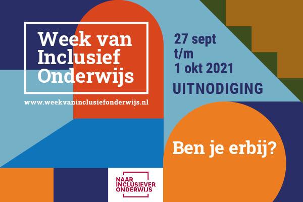 Aankondiging van de Week van Inclusief Onderwijs 27 sep-1 okt 2021